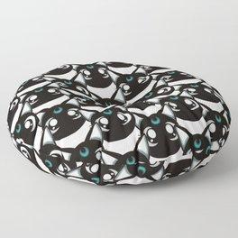 Hexed kittie Floor Pillow