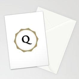 Vintage Letter Q Monogram Stationery Cards