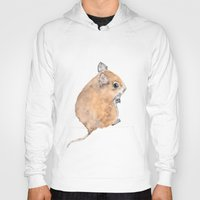 mouse Hoodies featuring Mouse by Lindsay Guiher
