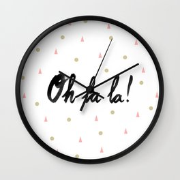 Oh La La! Wall Clock