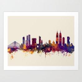 Mumbai Skyline India Bombay Art Print