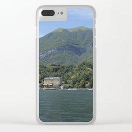 View of Tremezzo and Villa Carlotta on Lake Como, Italy Clear iPhone Case