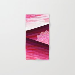 Serene Contemporary Flower Design Hand & Bath Towel