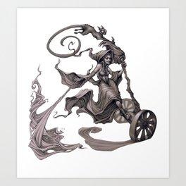 Segway Sorceress   Art Print