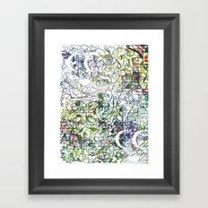 Oil Ink Framed Art Print
