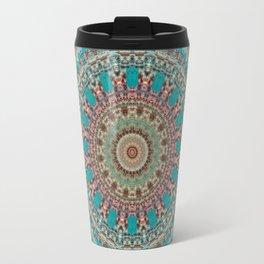 Vintage Turquoise Mandala Design Travel Mug