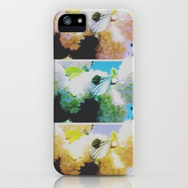 Faded Snowball Branch Collage (II) iPhone Case