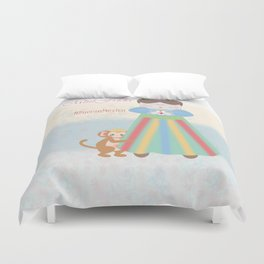Fuerza Mexico by Mini Frida Duvet Cover
