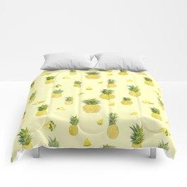 Pineapple Watercolors Comforters