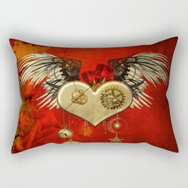 Wonderful steampunk heart with wings Rectangular Pillow