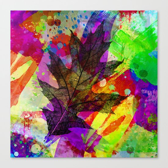 Splash leaf Canvas Print