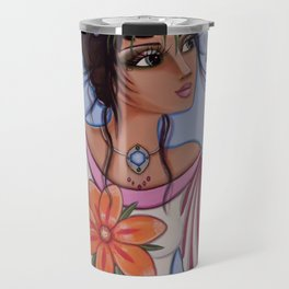 Vineyard Muse or Monica watches the little yellow butterfly while hiding a hair pin for just in case Travel Mug