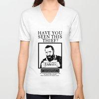 les miserables V-neck T-shirts featuring [ Les Miserables ] Jean Valjean Hugh Jackman Mis by Vyles