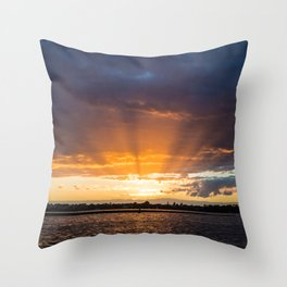 The Final Sunrays Throw Pillow