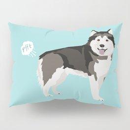 Alaskan Malamute funny fart dog breed gifts Pillow Sham