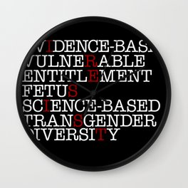 7 Banned Words CDC Center Disease Control Donald Trump I RESIST Wall Clock