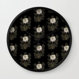 Mysterious Medieval Flower Pattern Wall Clock