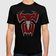 Bat-Spiderman Black Mens Fitted Tee MEDIUM