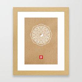 Taoist Mandala Kraft Framed Art Print