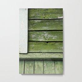 green black white Metal Print