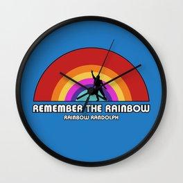 Remembering Rainbow Randolph Wall Clock