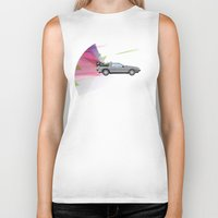 back to the future Biker Tanks featuring Back to the Future by avoid peril