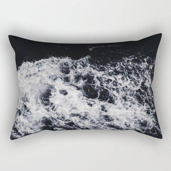 Waves #dark Rectangular Pillow