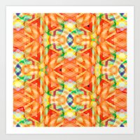 orange heat Art Print