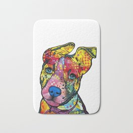 Colourful Pit Bulls, pit bull gift Bath Mat
