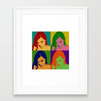 sasha grey Framed Art Prints featuring Sasha Grey by MartiniWithATwist