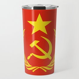 Russian Communist Flag Hammer & Sickle Travel Mug
