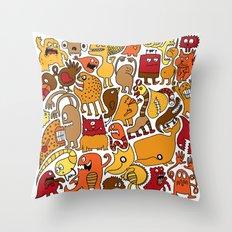 Creatures! Throw Pillow