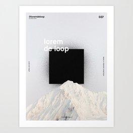 Lorem de Loop #037 Art Print