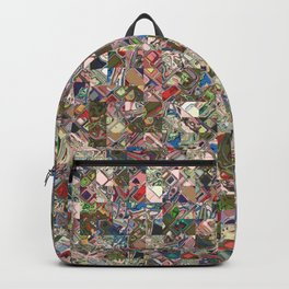 Colorful Quilt Pattern Backpack