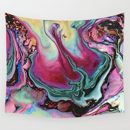 Colorful abstract marble Wall Tapestry