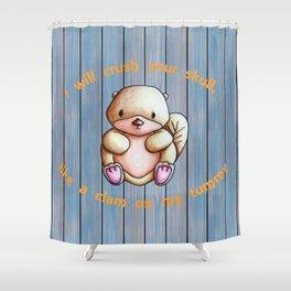 Grumpy Otter Shower Curtain