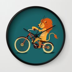 Lion on the bike Wall Clock