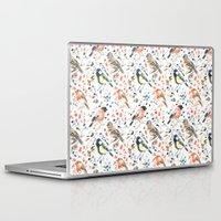 british Laptop & iPad Skins featuring British Birds by Lauren Thomas Designs