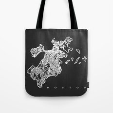 BOSTON MAP Tote Bag
