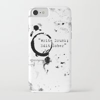 hemingway iPhone & iPod Cases featuring Hemingway Writing Quote by Novel Reveries