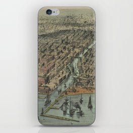 Vintage Pictorial Map of Chicago IL (1907) iPhone Skin