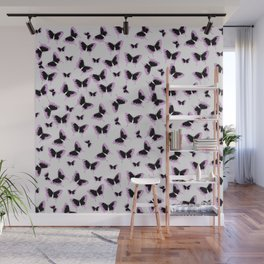 Black and pink butterflies Wall Mural