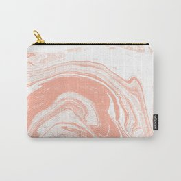 Marble coral pastel 3 Suminagashi watercolor pattern art pisces water wave ocean minimal design Carry-All Pouch