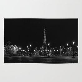 The Eiffel Tower From Place de la Concorde Rug