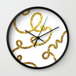 line of gold Wall Clock
