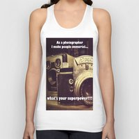 cameras Tank Tops featuring Vintage cameras by Fairies and Rock