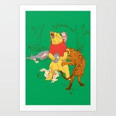 A Very Naughty Bear Art Print