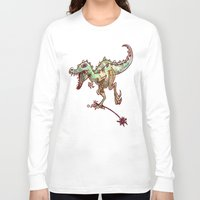 dino Long Sleeve T-shirts featuring dino  by Bunny Noir
