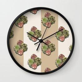 When Floral Meets Succulent (Beige & Cream) Wall Clock