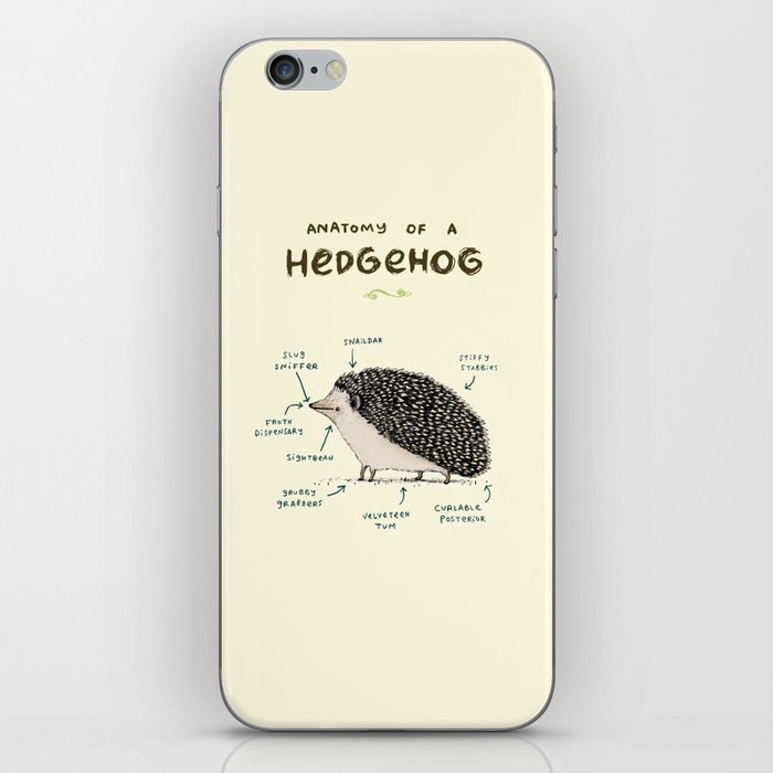 Anatomy Of A Hedgehog Iphone Skin By Sophiecorrigan Society6